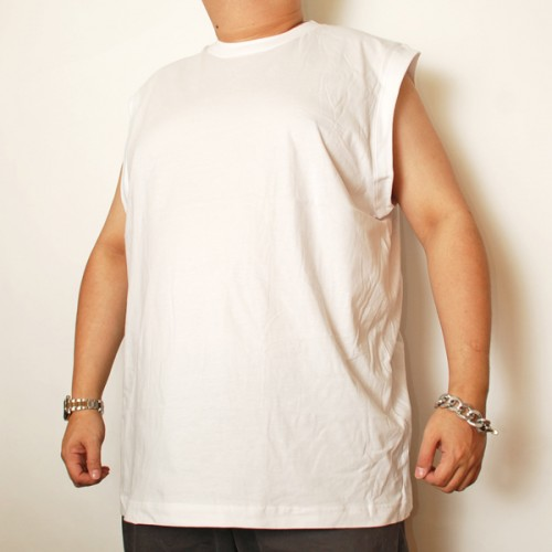 Cotton Sleeveless Shirt - White