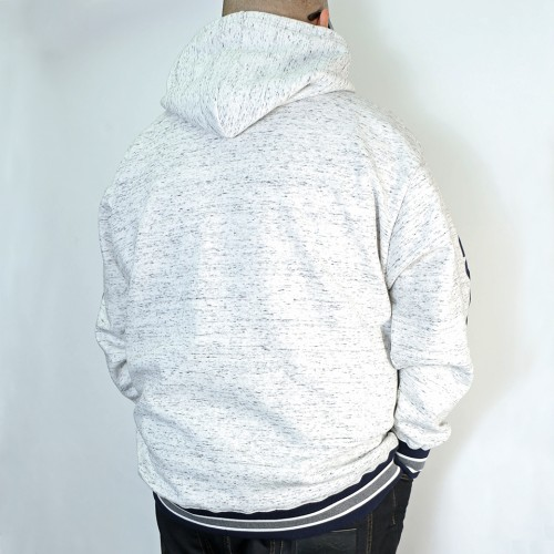Simple Back Brushed Hoodie - White