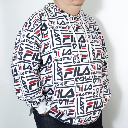 All Over Print Hoodie - White