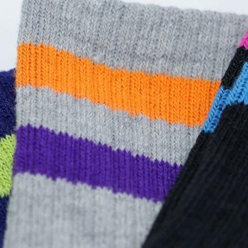 Line Quarter Socks - Multi