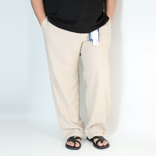 麻混 Easy Relax Pants - Khaki