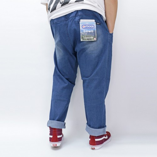 Stretch Denim Climbing Pants - Blue