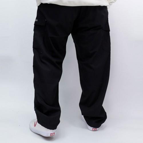 Water Repellent Mesh Cargo Pants - Black