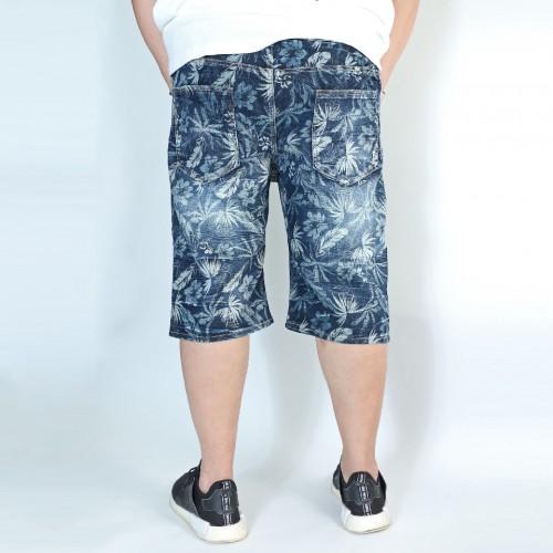 Vintage Denim Shorts - Flower Print Washed