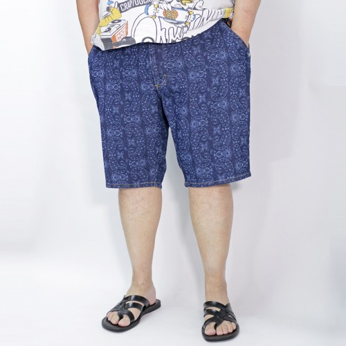 Paisley Pattern Jerseys Shorts - Blue