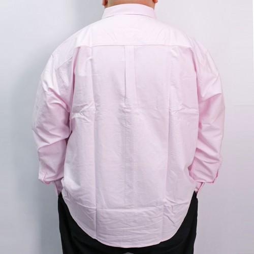 Plain Color L/S Button Down - Pink