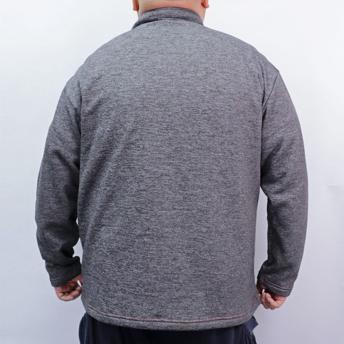 Heather Microfleece Sweatshirt - Charcoal