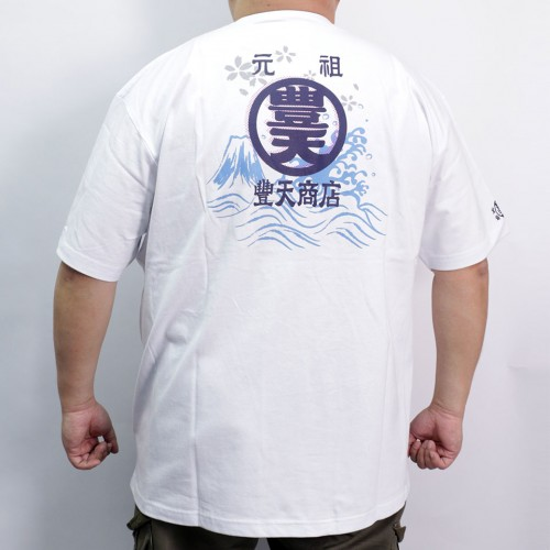 Fujisan & Wave Tee - White